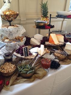 vintage cheese and charcuterie station @ New Orleans board of trade