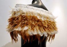 Robin Hill Kura Gallery Maori Art Design New Zealand Aotearoa Weaving Feather Shoulder Cape Closed 2