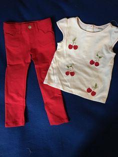 NWT Gymboree 2T Girl's Two Piece Cherries Outfit Set  #Gymboree