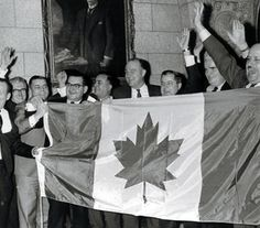 On December 1964 Canada adopted a new national flag featuring a red maple leaf on a white background. I Am Canadian, Canadian History, National Flag Of Canada, Meanwhile In Canada, Historia Universal, Adoption, Canada Eh, True North, Quebec City