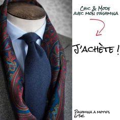 82299589f769 A la mode et tendance, l écharpe indienne pour homme aux motifs cachemire d