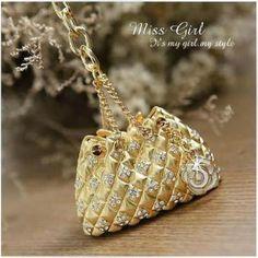 Swarovski Crystal Gift Gold Purse Handbag Designer Key Chains Rings Charms | eBay $18.49