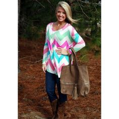 That's All Bright with Me-love this chevron top!