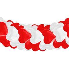 Girlande mit Herzballons - Zweifarbig - Rot & Weiss | Luftballon-Markt GmbH