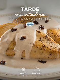 Comparte una tarde deliciosa al saborear este Pollo en salsa de ciruela.   #recetas #receta #quesophiladelphia #philadelphia #crema #quesocrema #queso #comida #cocinar #cocinamexicana #recetasfáciles #recetasPhiladelphia #recetasdecocina #comer #pollo #salsa #ciruela #comida #cena #recetapollo #recetasalsa #recetasdecocina