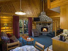 Becker's Chalets offers log cabin accommodation in Jasper National Park 5 minutes south of Jasper, Alberta along the Athabasca River. Jasper National Park, National Parks, Loft, Cabin, Home Decor, Lofts, Cabins, Cottage, Interior Design
