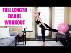 Tone arms, legs, booty and abs with this total body full length BARRE Workout! Switch up your routine by adding in barre fitness to challenge your body in ne. Ballet Barre Workout, Cardio Barre, Barre Fitness, Fitness Tips, Body Fitness, Fitness Youtubers, Ballet Fashion, Workout Videos, Workout Tips
