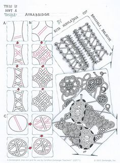 Aurabridge, a tangleation by Rita Nikolajeva, Certified Zentangle Teacher