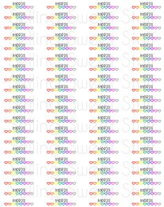 Digital Download - RAINBOW Hydrate Stickers for Erin Condren Life Planners, Crafts, or other Planners on Etsy, $6.00