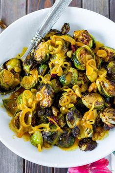 Brussel Sprouts with Curry Sauce