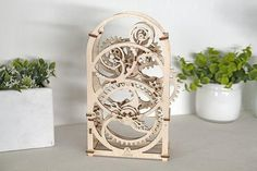 puzzle timer wooden clock ugears