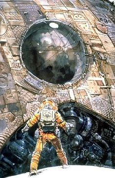"Concept art for the movie ""Alien"" by the French artist Jean ""Moebius"" Giraud."