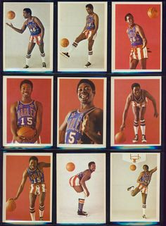 Harlem Globetrotters 1970's Fleer Basketball Cards