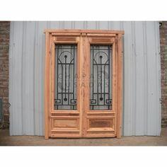 puerta madera pinotea c/reja hierro f 150x213cm chapasusadas