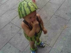 What's not to love about photos of babies dressed in watermelons?