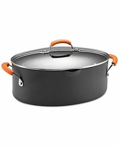 Shop for Rachael Ray Hard-anodized II Nonstick Grey with Orange Handles Covered Oval Pasta Pot with Pour Spout. Get free delivery On EVERYTHING* Overstock - Your Online Kitchen & Dining Outlet Store! Cooking Temperatures, Braised Beef, Rachel Ray, One Pot Meals, Cookware, Kitchen Dining, Dining Room, Dishwasher, The Best