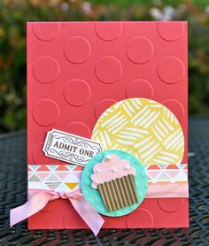Krystal's Cards: Stampin' Up! That's the Ticket Mojo388 #krystals_cards #stampinup #thatstheticket #cupcake #stampsomething #sendacard #mojo388