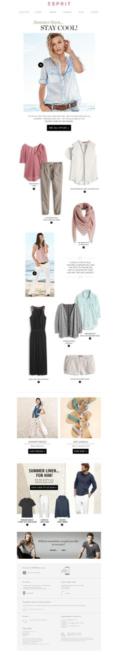 Esprit women linen Newsletter
