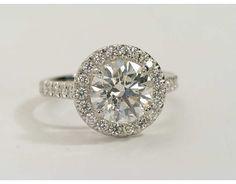 2.01 Carat Diamond Round Halo Diamond Engagement Ring | Recently Purchased | Blue Nile