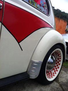 vw beetle checkered rims