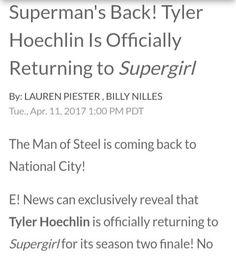 Secrets And Lies, Tyler Hoechlin, Man Of Steel, Supergirl, Comebacks, No Worries, Cart, It Cast, Geek