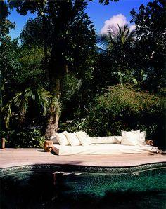 Crystal water of our aventurine quartz pool. UXUA Casa Hotel & Spa, Trancoso, Brazil.