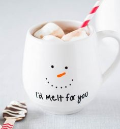 Hóemeberes bögrék - karácsonyi ajándék egyszerűen / Mindy -  kreatív ötletek és dekorációk minden napra