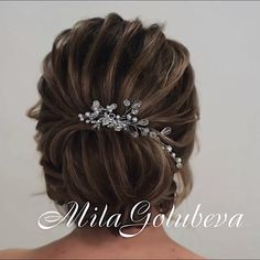 Glam Updo Styles For Wedding! Do you wanna see more fab hairstyle ideas and tips for your wedding? Then, just visit our web site babe! Shaved Side Hairstyles, French Braid Hairstyles, Up Hairstyles, Hairstyle Ideas, Updo Styles, Long Hair Styles, Style Glam, Peinado Updo, Braids With Shaved Sides