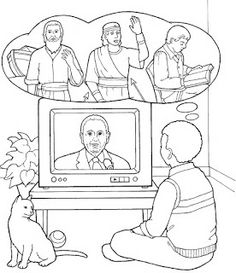 Lds nursery color pages 41 heavenly father and jesus for Thomas s monson coloring page
