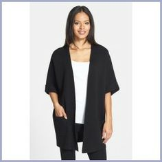 Today Recommend - Eileen Fisher Elbow Sleeve Long Jacket X-Large