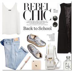Back to School by stellaasteria on Polyvore featuring moda, MANGO, Zara, AG Adriano Goldschmied, Miu Miu, Calvin Klein, Montegrappa and STELLA McCARTNEY