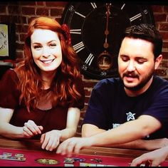 Felicia Day and Wil Wheaton