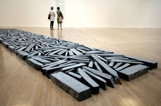 Richard Long : Stone Line : 1980 : Shaun Curry/AFP/Getty Images