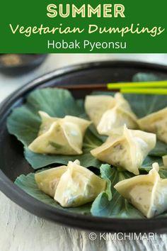 Vegetable Dumplings, Steamed Dumplings, Dumpling Recipe, Vegan Dumplings, Asian Vegetables, Steamed Vegetables, Korean Dishes, Korean Food, Chinese Food