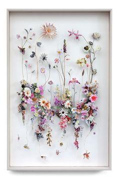 Flower construction 90 w 94 h 134 d 6 5 cm Flower Collage, Flower Artwork, Flower Frame, Flower Wall, Dried And Pressed Flowers, Pressed Flower Art, Dried Flowers, Paper Flowers, Cuadros Diy