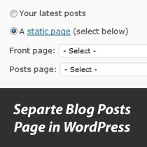 how to create a separate blog page in wordpress