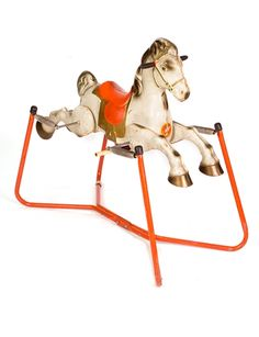 ROCKING HORSE Vintage Mobo tin Prairie King 1950s