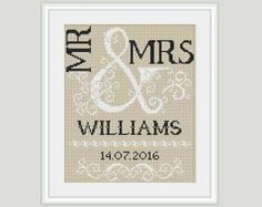 Happily Ever After: Wedding Cross Stitch Patterns Ideas and Gifts: Mr. and Mrs.