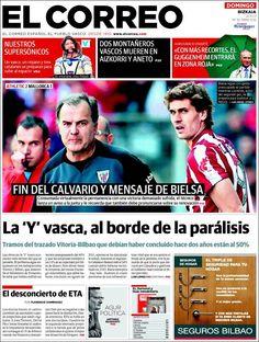 Los Titulares y Portadas de Noticias Destacadas Españolas del 12 de Mayo de 2013 del Diario El Correo ¿Que le parecio esta Portada de este Diario Español?