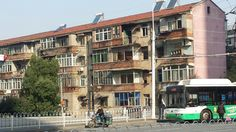 Wuhan, Multi Story Building, Street View, China, Porcelain Ceramics, Porcelain