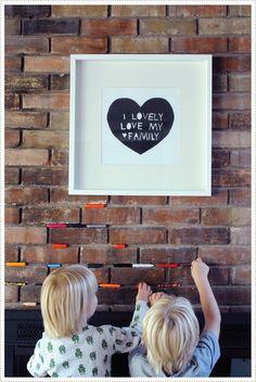 art plus crayons in the bricks = sweet