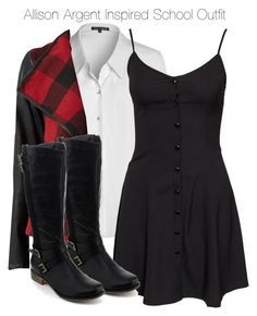 """""""Teen Wolf - Allison Argent Inspired School Outfit with requested blouse"""" by staystronng ❤ liked on Polyvore featuring NIC+ZOE, NLY Trend, Parisian, school, allisonargent and tw"""