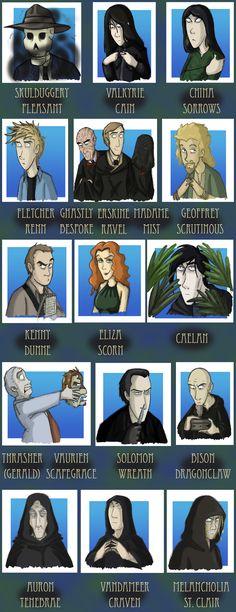 Skulduggery Pleasant book 6 cast of characters