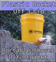 Plastic Bucket Off Grid Portable Shower DIY Project Homesteading  - The Homestead Survival .Com