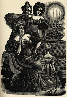 One of many great illustrations by Fritz Eichenberg from the 1943 Random House edition of Jane Eyre.