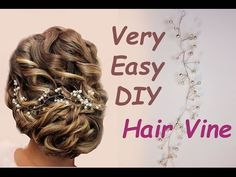 Super Easy DIY Bridal Hair Vine Headpiece Tiara Boho Tutorial Tocado para el Cabello - YouTube