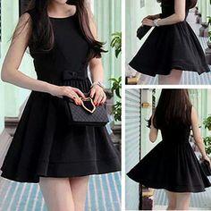 Vestido negro Short Tops, Long Tops, Girls Wear, Women Wear, Cute Dresses, Short Dresses, Trendy Outfits, Cute Outfits, Estilo Fashion