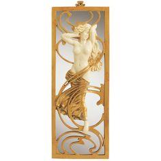 Design Toscano Parisian Salon Art Nouveau Mirror new copies Belle Epoque, Art Nouveau Design, Design Art, Wall Design, Statue Art, Wall Mirrors Set, Mirror Set, Framed Wall, Art Nouveau Furniture