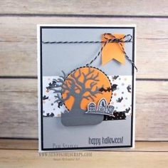 A Spooky Fun Halloween Card created by Pam Staples for the Paper Craft Crew Card…