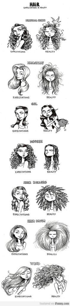 Hair expectations vs reality